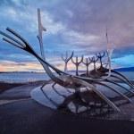 Solfar suncraft in reykjavik — Stock Photo #44600297