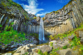 Svartifoss - black fall. — Stock Photo