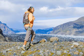 Woman tourist, Iceland — Stock Photo