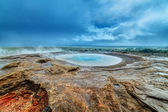 Iceland geyser — Stock Photo