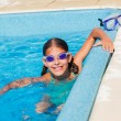 Funny girl swims. — Stock Photo #45628021