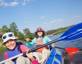 Kayaking on river. — Stock Photo