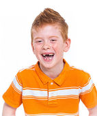 Portrait of a cute red-haired boy — Stock Photo