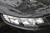 Head Lamp Of black Car — Stock Photo