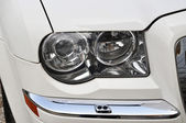 Head Lamp Of white Car — Stock Photo