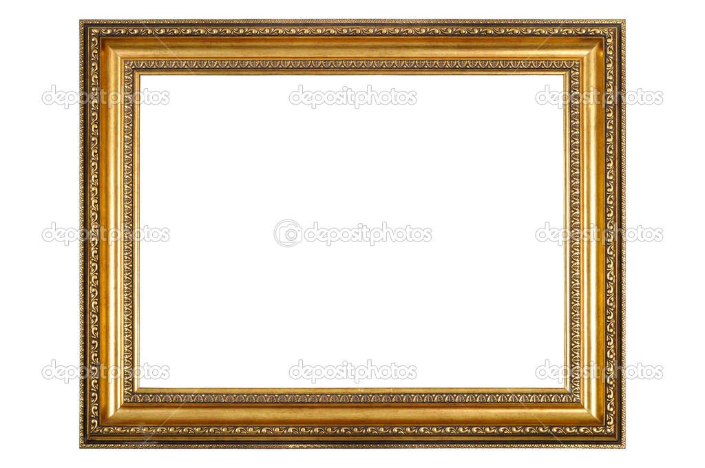 孤立在白色背景上的长方形木制框架