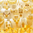 Stock Photo: Gold jewelry in grand bazaar