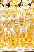 Gold jewelry in grand bazaar — Stock Photo