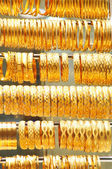 Gold jewelry in grand bazaar — Stock Photo