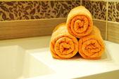 Toalhas laranja — Fotografia Stock