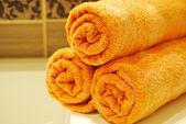 橙色毛巾 — 图库照片