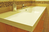 Modern bathroom sink — Stock Photo