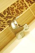 Modern bathroom taps — Stock Photo