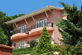 Pink villa — Stock Photo