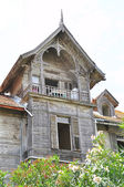 Old wooden villas — Stock Photo
