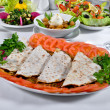 Cooked meat lahmacun — Stock Photo #49485231
