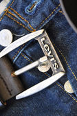Levis blue jeans — Stock Photo
