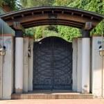 Front garden gate — Stock Photo #49491315