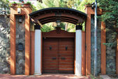 Front garden gate — Stock Photo