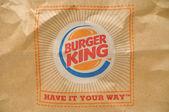 Burger king packaging logo — Stock Photo