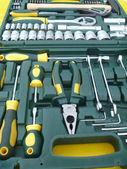 Set för metallbearbetning instrument — Stockfoto
