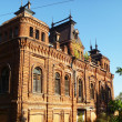 Mstera. Old-time building from red brick — Stock Photo