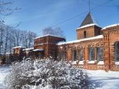 Zabroshenoe building of the old-time hospital in Mstyore — Stock Photo