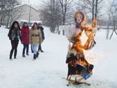 Celebration of the Shrovetide in Russia — Stock Photo
