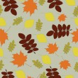 Stock Vector: Seamless pattern with autumn leaf fall