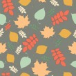 Seamless pattern with autumn leaf fall — Stock Vector