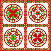 Russian traditional ornament of Severodvinsk region — Stock Vector