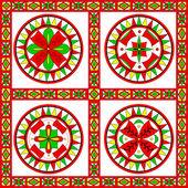 Russian traditional ornament of Severodvinsk region — Stock Vector