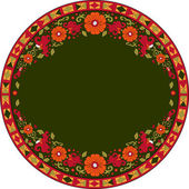 Russian traditional ornament with flowers of Severodvinsk region — Stock Vector