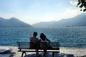 In love at the Lago Maggiore — Stock Photo