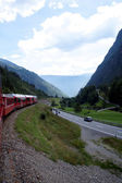 With the train to Italy — Stock Photo