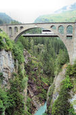 Bridge over a gorge — Stock Photo