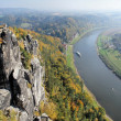 View from the Bastei in the Saxon Switzerland, Germany — Stock Photo