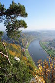 The Upper Elbe valley in Germany — Stock Photo