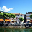 Panoramof promenade of Ascona, Switzerland — Stock Photo #18575049