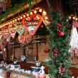 Gingerbread hearts on the Christmas market — Stock Photo