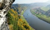 View on the Elbe in Saxony, Germany — Stock Photo