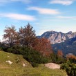 Mountain panorama in autumn in Tyrol, Austria — Stock fotografie