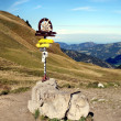 A signpost in the Allgaeu Alps — Stok fotoğraf