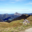 An hut in the Tannheim Mountains in Tyrol — Foto de Stock