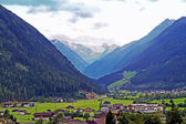 Neustift in the Stubai Valley with Stubai Glacier — Stock Photo