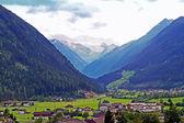 Neustift in the Stubai Valley with Stubai Glacier — Stock Photo