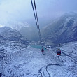 Cable car in the Stubai Alps — Stock Photo