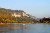 On the Elbe in Saxon Switzerland, Germany — Stock Photo
