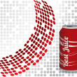 Cola drink with dotted background — Stock Vector