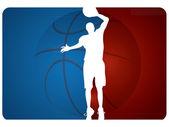 Basketball background - vector illustration — Stock Vector
